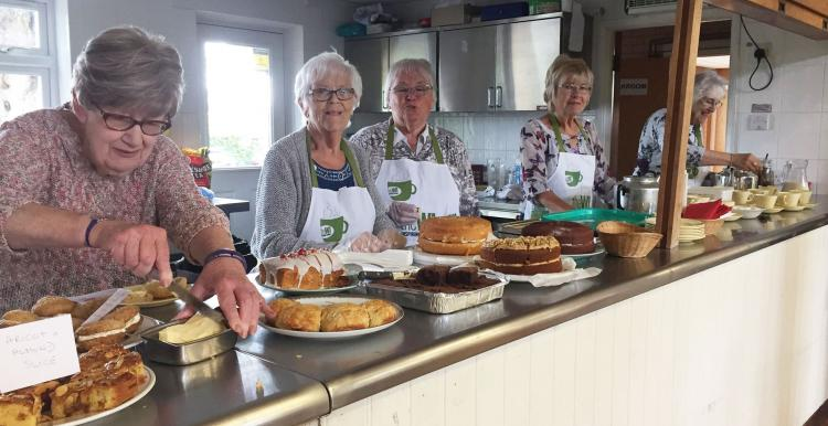Women at the Boughton Monchelsea Women Insutute's Community Coffee Morning