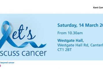 'Let's discuss cancer' event banner
