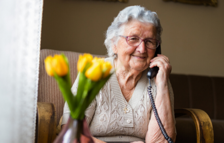 lady in care home