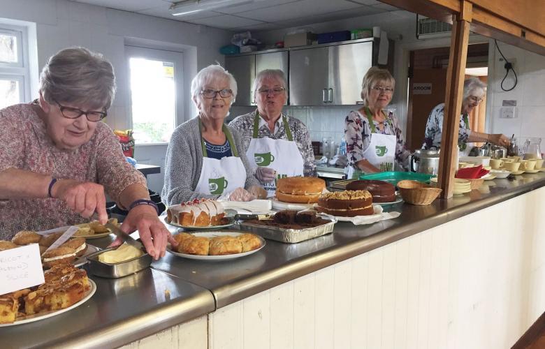 Women at the Boughton Monchelsea Women Insutute's Community Coffee Morning