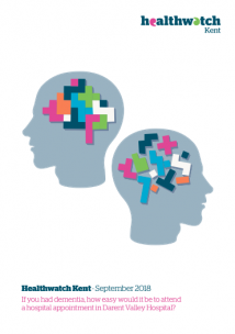 Report cover to the dementia report. The illustration is of two head with tetris blocks inside of them. One is dishevelled and the other is in an order.