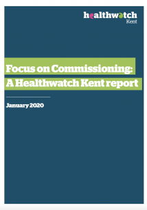 Healthwatch Kent's commissioning report front cover