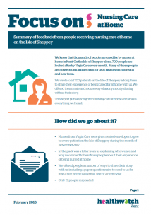 The first page of the focus on the nursing care home report